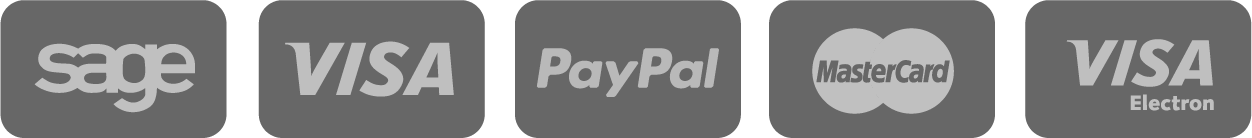 Payment accepted: Sage, VISA, PayPal, MasterCard